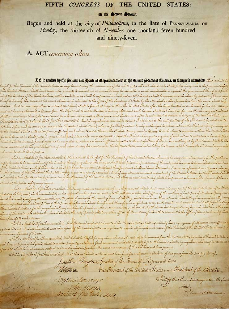 an analysis of the sedition act of 1798 for the first few years of constitutional government Alien and sedition acts of 1798 the alien and sedition acts : at the time and their stand points on the alien acts of 1798 the first years of the.