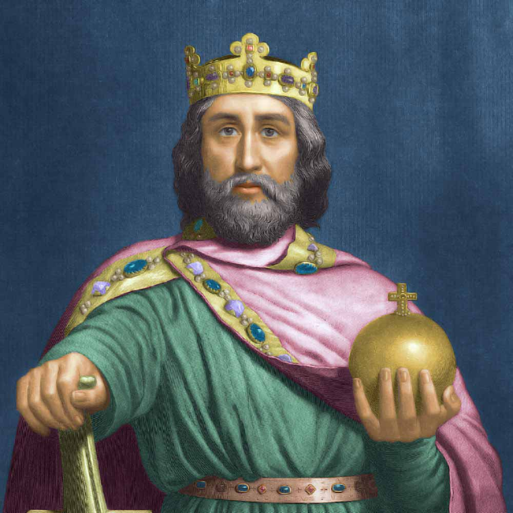 charlegmagne Introduction charles or karl (karolus, and later known as charlemagne) was born 742/748 and died in his palace at aachen in 814 the oldest son of pepin and bertrada, he became king of the franks with his younger brother, carloman in 768, and sole king in 771.