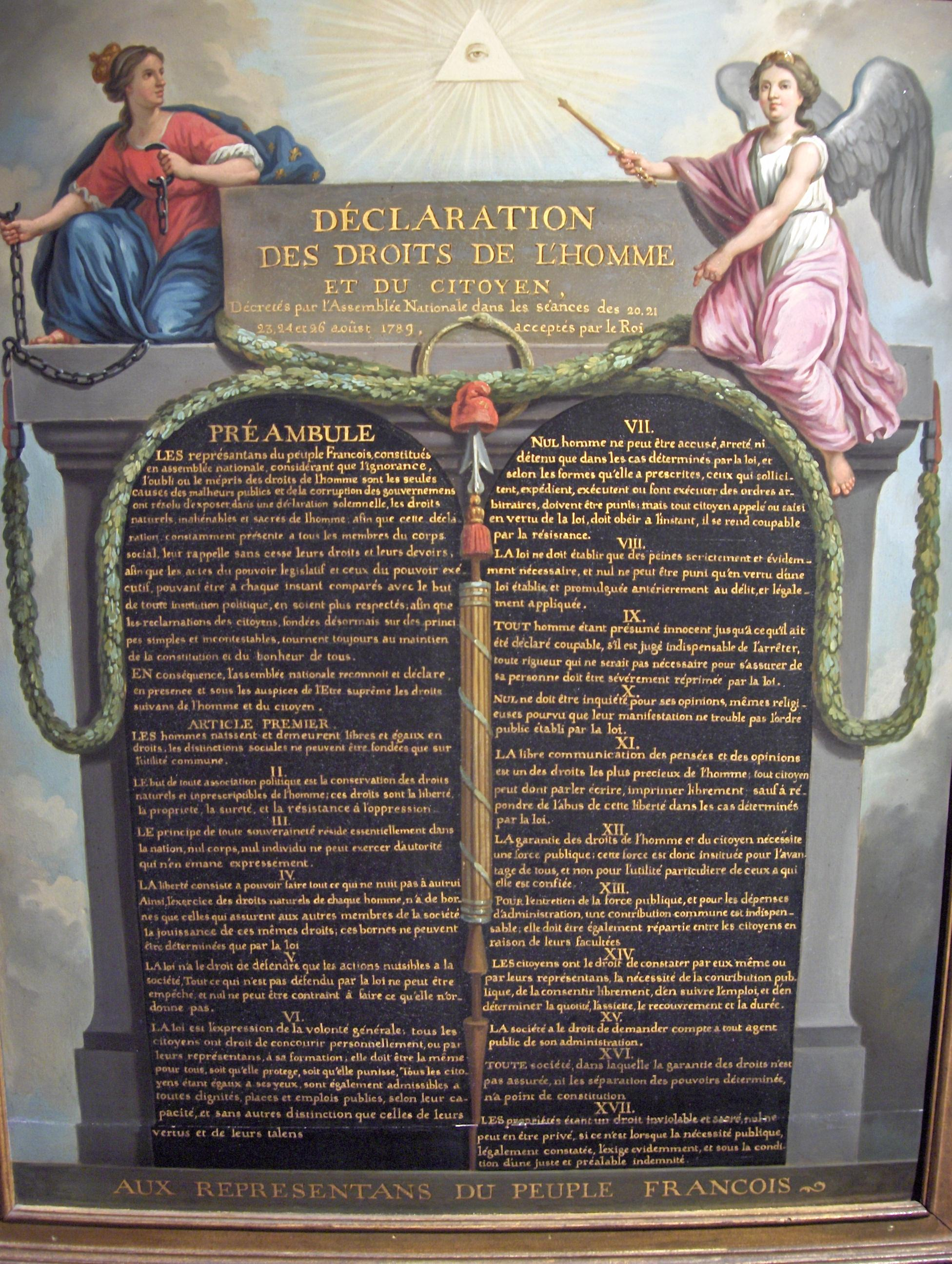 Today in History: 26 August 1789: Declaration of Rights of ...