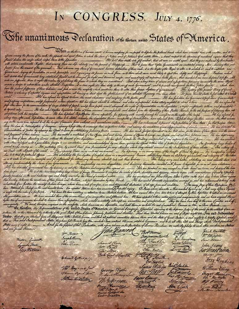 Official signing of u s declaration of independence in philadelphia