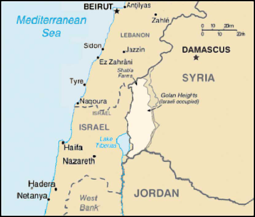 Golan Heights Israel  city photos : Golan Heights Map