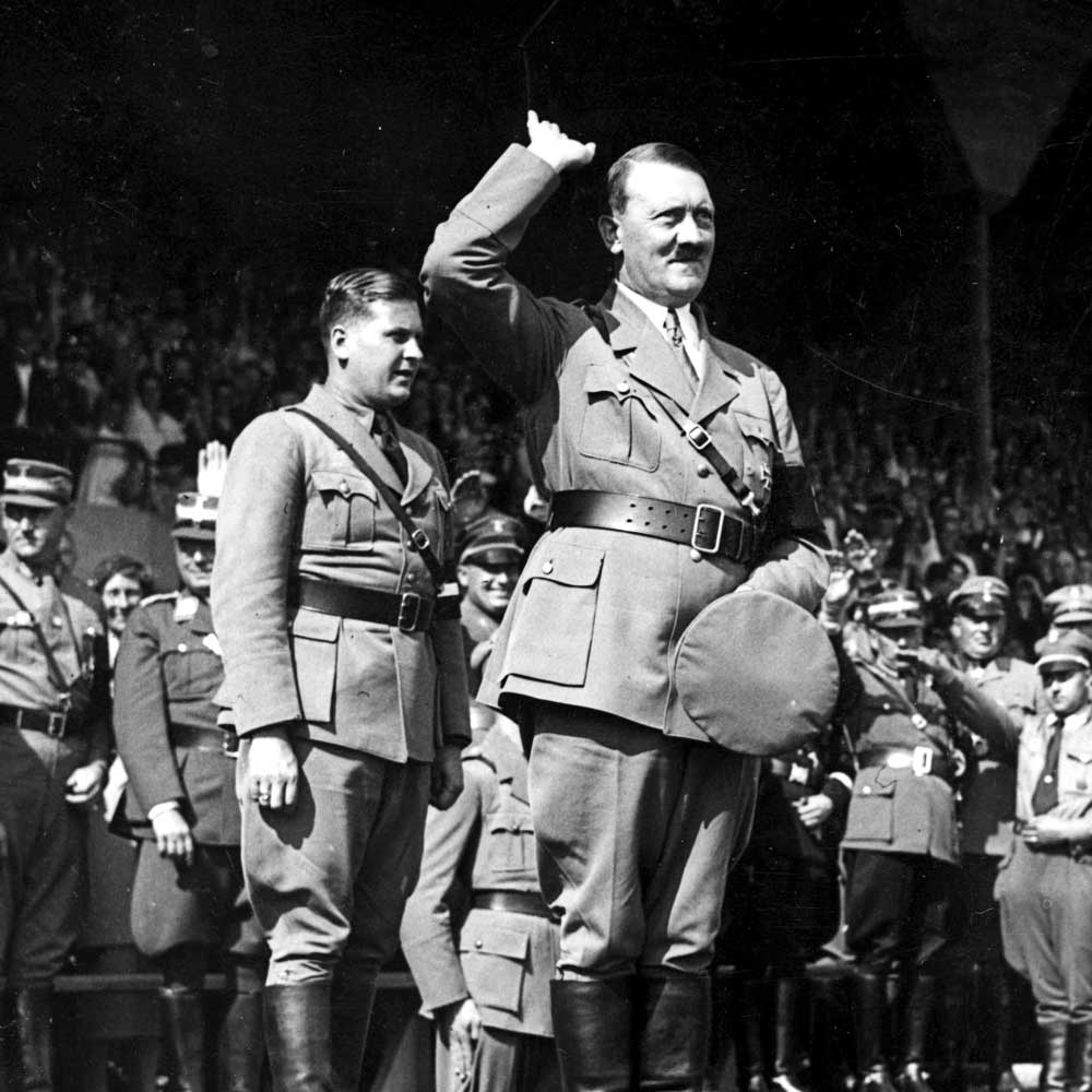 Hitler Quotes On Youth: Trump Supporters Raise Right Hands To Pledge Support. The
