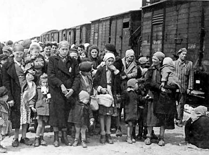 Jews in Auschwitz Concentration Camp