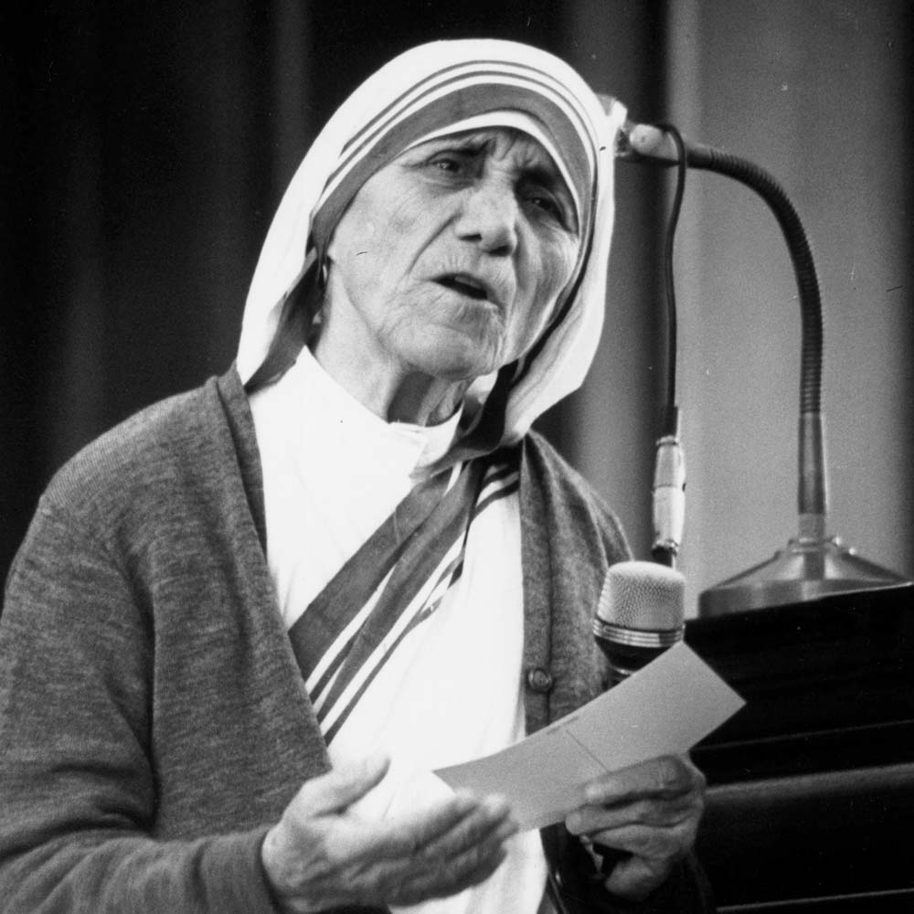 Nobel Peace Prize Is Awarded To Mother Teresa