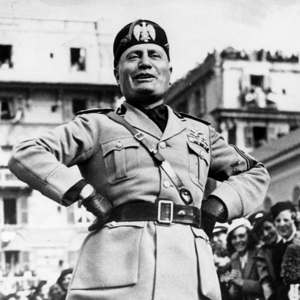 Mussolini's foreign policy.