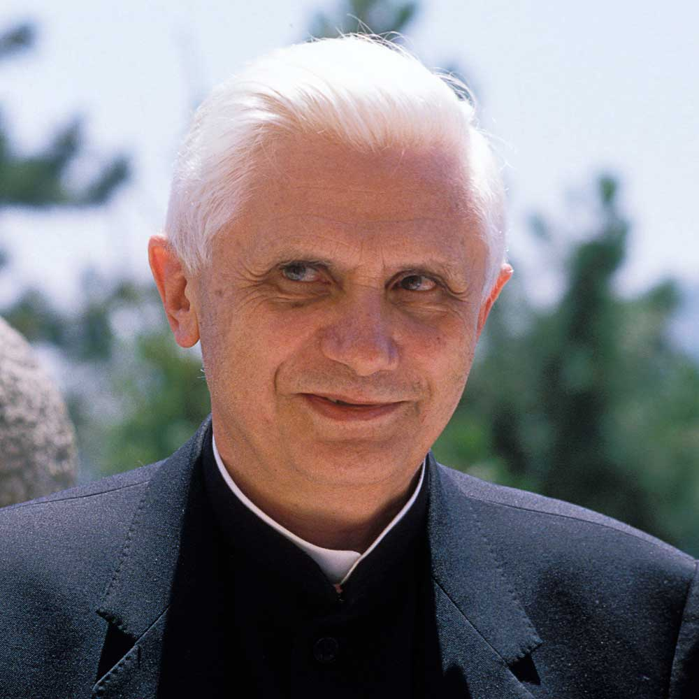 Future Pope Benedict XVI, <b>Joseph Ratzinger</b>, Joins Regular Army - Ratzinger-1989-a