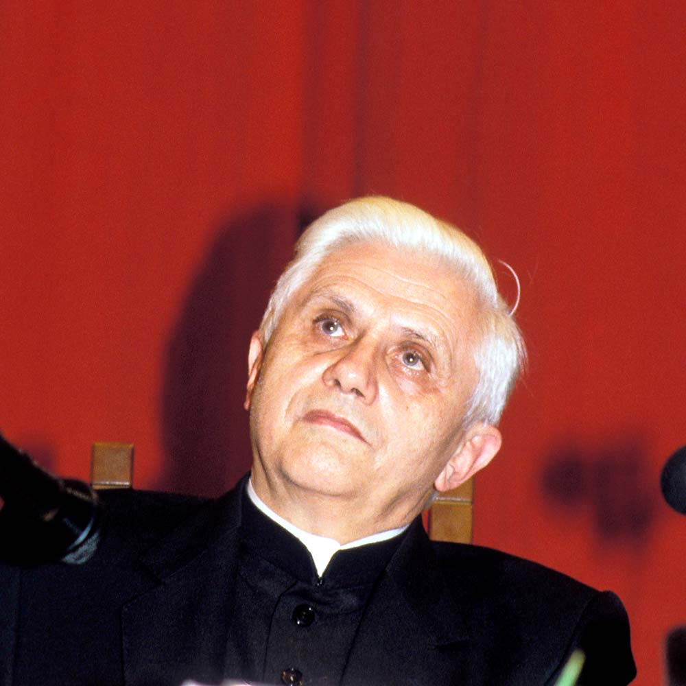 Future Pope Benedict XVI, <b>Joseph Ratzinger</b>, Enters Theological Institute - Ratzinger-1989-b