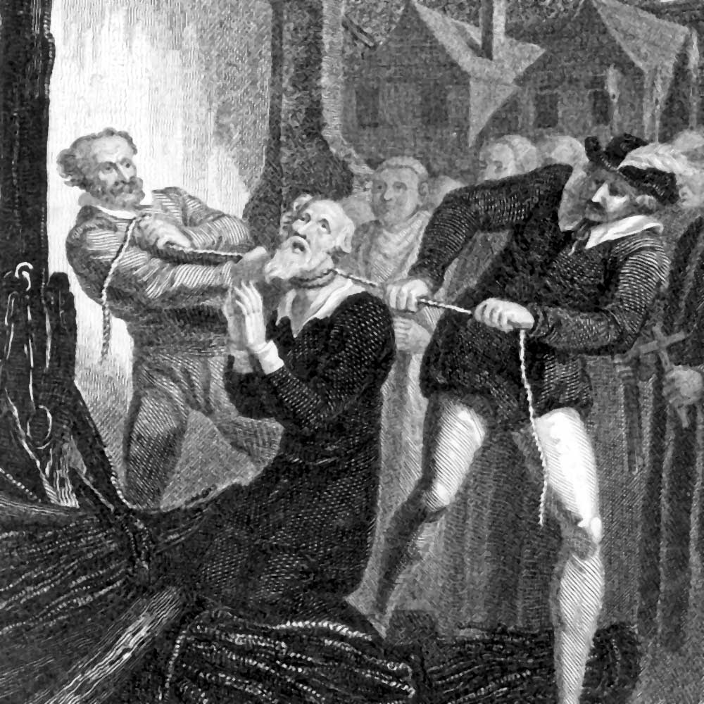 Death of William Tyndale by Strangulation and Fire for Translating Bible  into English